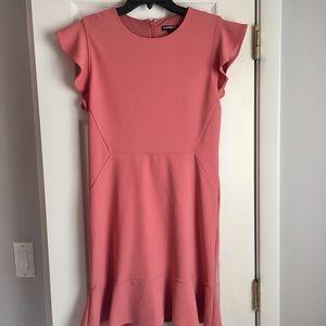 NWOT Express Pink Ruffle Mini Dress